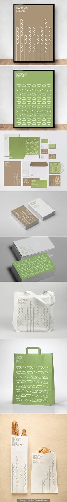 Let's have some banana bread for breakfast identity #packaging curated by Packaging Diva PD