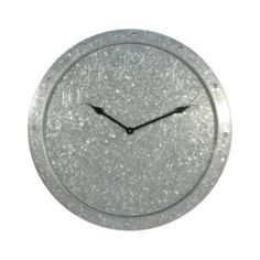 Threshold Wall Clock with Galvanized Finish Quick Information