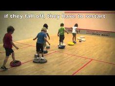 Balance games for kids under 5: balance discs balance improvement exercises balance sport