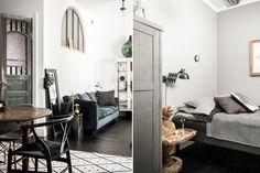 Mieszkania w zabytkowych kamienicach mają swój niepodważalny urok. Zabytkowe drzwi i okna, prawdziwa cegła – takiemu wnętrzu niewiele trzeba, aby wyglądało spektakularnie. Zapraszamy do niewielkiego mieszkania urządzonego przy użyciu mebli wyszukanych na targach staroci.