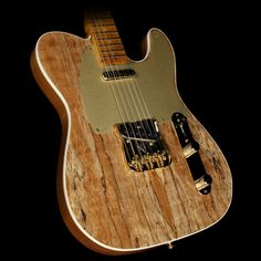 Fender Custom Shop Spalted Maple Artisan Telecaster Electric Guitar Natural