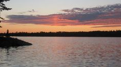 Sunset over Rainy Lake, Ontario