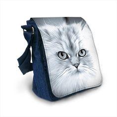 Sac bandoulière en jean chat collection chat princesse