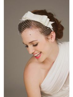 bow headband with veil