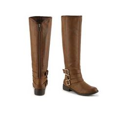 Riding Boots Women's Shoes Brown flat Low Heel Size 7.5 Size 8 7.5 Flat | DSW.com