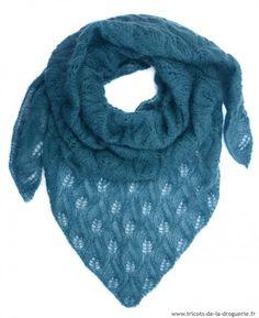 c504dd063fbc Le châle rue de Sévigné  ladroguerie  châle  tricot Foulard Tricot, Tricot  Crochet