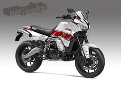 If there's one bike that would be a guaranteed laugh if it was built today, it would be the Yamaha TDR250. Imagine it with a 350cc motor… If there's anything that Yamaha know how to build it'…