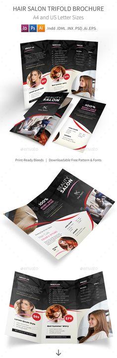 Beauty Salon Trifold Brochure Pinterest Brochures Brochure