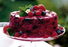 """Ina Garten's summer pudding is a disarming and magical concoction of brioche and berries—the ripest, fruitiest tastes of the season. """"People devour it,"""" Ina says."""
