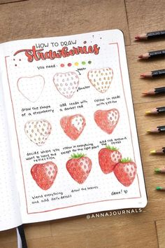 If you're changing up your theme or just want to add some decoration to your spreads this month, check out these super fun step by step food themed doodle tutorials to try in your bullet journal! Bullet Journal Notebook, Bullet Journal School, Bullet Journal Spread, Bullet Journal Inspiration, Book Journal, Bullet Journal Lettering Ideas, Bullet Journal Ideas Pages, Kunstjournal Inspiration, Doodle Art Journals