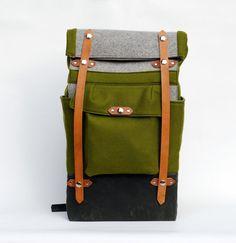 The Olive Felt Camper by sketchbook on Etsy, $315.00