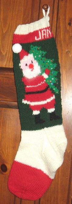 Knitted Personalized Santa Christmas Tree by StockingTraditions, $40.00