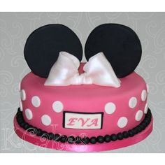 Lovely Minnie Mouse themed cake