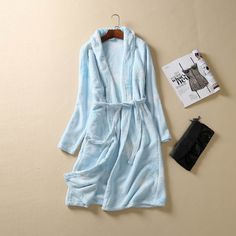 Long Robes Women Winter Long Sleeves Pyjamas Lace Sleepwear Women Lounge Robe Flannel Bathrobe. Yesterday's price: US $36.69 (30.21 EUR). Today's price: US $32.65 (26.88 EUR). Discount: 11%.