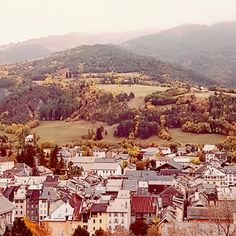 Vue sur Barcelonnette Automne en Ubaye Alps, Snow, Fall Season