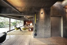 Decorating with exposed concrete.