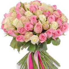 Розы|Букет из 101 розы микс (40см) - цены от Flor2u.ru