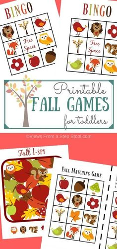 These printable fall games for toddlers will keep your little ones busy (and…