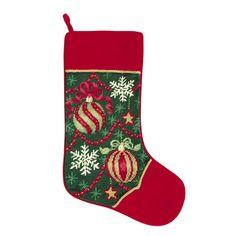 Needlepoint Stocking Holiday Ornaments