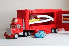 Play Time: Disney Cars Mack Truck Playset Review - Cars Disney Mattel review toy review toys
