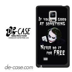 Joker Quotes DEAL-5943 Samsung Phonecase Cover For Samsung Galaxy Note Edge