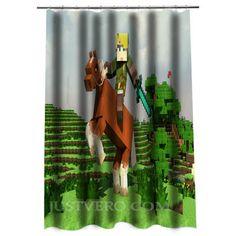 The Legend Of Zelda Creeper Minecraft Shower Curtain Creeper