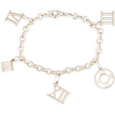 Pre-owned Tiffany & Co. Atlas Charm Bracelet (6 805 UAH) ❤ liked on Polyvore featuring jewelry, bracelets, lobster claw charms, tiffany co jewellery, charm bracelet bangle, sterling silver charm bangle and charm jewelry