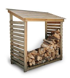 Buy Garden Trading Log Store from our Outdoor Storage range at John Lewis & Partners. Outdoor Firewood Rack, Firewood Shed, Firewood Storage, Wooden Storage Sheds, Outdoor Storage Sheds, Storage Shed Plans, Hygge, Rattan, Log Store