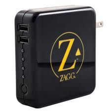 Sparq from Zagg.  Portable power to recharge your iPad and iPhone on the go or from the wall. It works.