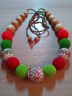Мои слингобусы и бусики)))) Teething Necklace, Crochet Necklace, Beaded Bracelets, Crochet Collar, Pearl Bracelets