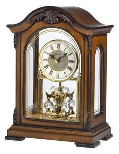 Bulova B1845 Durant Old World Clock Walnut Finish -- For more information, visit image link.