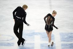 Great Britain's Penny Coomes and Great Britain's Nicholas Buckland compete in the Figure Skating Ice Dance Free Dance at the Iceberg Skating Palace during the Sochi Winter Olympics on February 17, 2014. AFP PHOTO / JUNG YEON-JE (Photo credit should read JUNG YEON-JE/AFP/Getty Images)