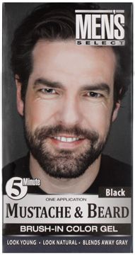 Men\'s Select Mustache & Beard Brush-In Color Gel, Dark Brown ...