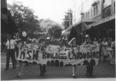 Female members of the Australian Builders Labourers Federation march on International Women's Day 1975 in Sydney