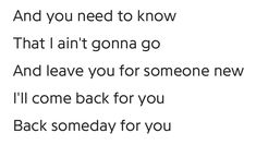 another song I'll Come Back For You by Max Schneider 💜