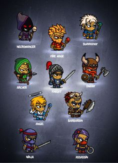 Check out RPG Cartoon Characters - 2d game art by EatCreatures on Creative Market