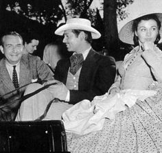 Clark Gable and Vivien Leigh on the set of Gone with the Wind