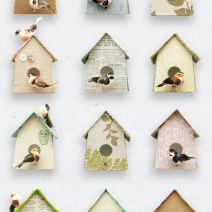 Behangen met vogelhuisjes. Gezellig! Van Studio Ditte