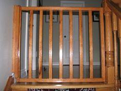 white oak banister baby gate | Baby Gate (self closing and latching) - by Rob @ LumberJocks.com ...