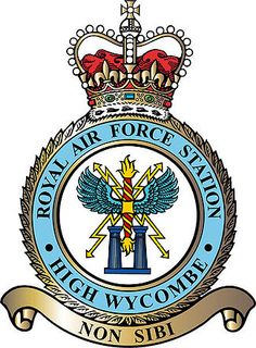 RAF High Wycombe - Wikipedia, the free encyclopedia Raf Bases, Military Insignia, Military Cap, High Wycombe, Car Badges, Royal Air Force, Crests, British Army, Coat Of Arms
