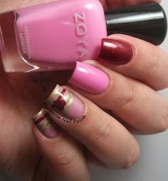 The Clockwise Nail Polish: Astra 102 & Striping Valentine's Day Nail Art
