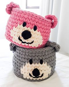 How to Make Wire Mesh Basket: 31 Styles with Step by Step - Babysachen Crochet Bowl, Crochet Basket Pattern, Knit Basket, Knit Crochet, Kawaii Crochet, Crochet Teddy, Crochet Motifs, Crochet Patterns, Crochet Ideas