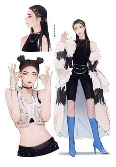 Scratchboard, Anime Scenery Wallpaper, Fan Edits, Black Pink Kpop, Kpop Fanart, Cute Art, My Girl, Pop Art, Kawaii