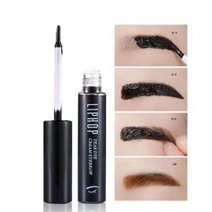 Liphop New Style Tattoo Eyebrow Gel Super Lasting for 72h Waterproof Sweat Professional Peel Off Natural Eyebrow Tint Dye Makeup