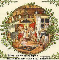 20 Papierservietten Wichtel Weihnachtsbäckerei online kaufen