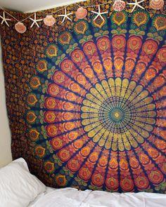 Rainbow Aura Mandala Tapestry by Lady Scorpio - Lady Scorpio ♡ - 3