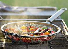 The Mesh Frying Pan makes the ideal addition to any griller's arsenal.