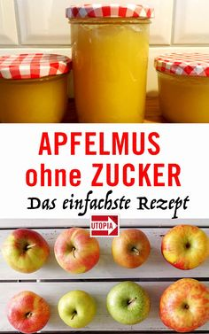 Selbstgemachtes Apfelmus schmeckt besser als gekauftes und kommt ganz ohne Zucke… Homemade applesauce tastes better than bought and comes out completely without sugar. We'll show you how to make the apples in Mus with only two ingredients. Detox Recipes, Fish Recipes, Smoothie Recipes, Healthy Recipes, Smoothie Detox, Detox Soup, Smoothies, Doce Light, Easy Detox Cleanse