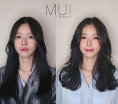 Side Fringe Hairstyles, Permed Hairstyles, Hair Inspo, Hair Inspiration, Korean Long Hair, Long Hair Cuts, Long Hair Styles, Asian Haircut, Aesthetic Hair