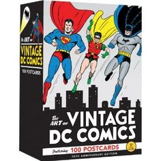 The Art of Vintage DC Comics: Postcards. Holy priceless collection Batman! I have to have these.